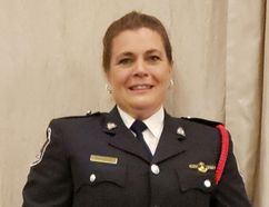 Submitted Photo Belleville's Const. Jen McMurter, was selected by the provincial Ontario Women in Law Enforcement honours and awards board to receive this year's Award for Valor.