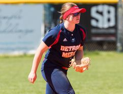 University of Detroit Mercy shortstop and Delhi native Courtney Gilbert has been named a All-Horizon League Second Team all-star. (Photo courtesy University of Detroit Mercy Athletic Communications)