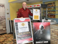 Lambton Film and Food Festival chair Glen Starkey stands in the foyer of Forest's venerable Kineto Theatre. The annual festival will run from May 24 to May 27 this year. CARL HNATYSHYN/SARNIA THIS WEEK