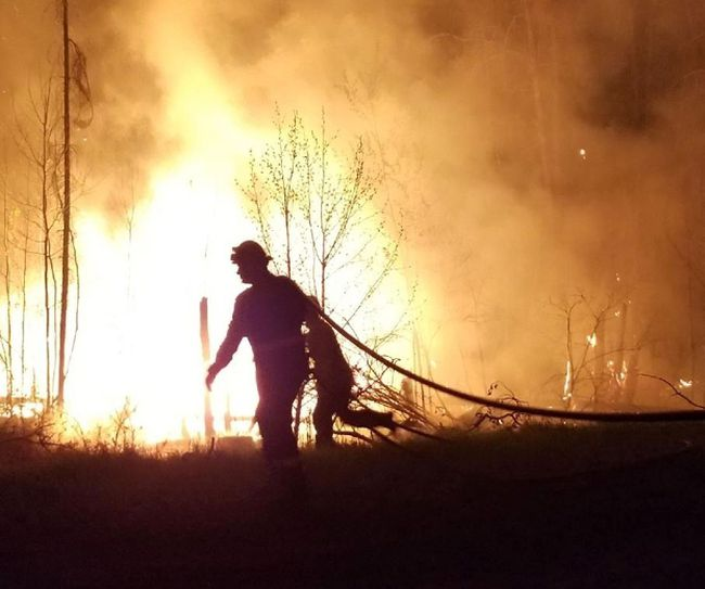 Fire crews have been battling wildfires in northern Strathcona County since around noon on May 12, with a mid-afternoon update on May 15 stating the situation has been stabilized.  Photo courtesy Strathcona County Emergency Services
