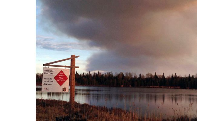 Continuing hot, dry weather conditions going into the May long weekend has resulted in a Restricted Fire Zone being imposed over much of Northwestern Ontario by the Ministry of Natural Resources and Forestry. The City of Kenora has also issued a ban on open fires in the municipality.