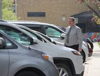 John Paul Stone leaves the Perth County Courthouse after his hearing Tuesday, May 15. (JONATHAN JUHA/THE BEACON HERALD)