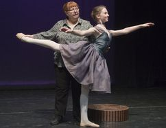 Dance instructor Victoria Carter assists 13-year-old Ashlyn Warton during a dress rehearsal of We'll Dance For You. Carter recently celebrated her 50th year teaching dance. (Derek Ruttan/Postmedia News)