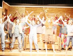 """The cast of """"Hankerin' Hillbillies"""" in rehearsal at the Bijou Theatre in Chesley on May 10. The comedy runs from May 24 to June 3. (Jane Kent/Postmedia Network)"""