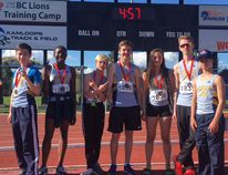 The Airdrie Aces athletes at the Kamloops track meet which took place May 3-6. Eight medals and four personal bests were achieved during this track meet.