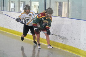 The Rockyview Silvertips Jr ladies hosted last year's champs the Sherwood Park Jr Titans, at the Plainsman Arena on May 11 and lost 8-4.