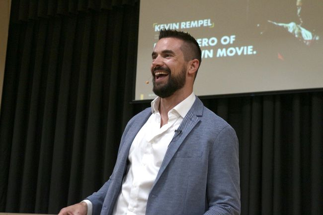 Canadian sledge hockey player Kevin Rempel spoke about his journey on May 8 as part of Morden's Mental Health Week. (LAUREN MACGILL, Morden Times)