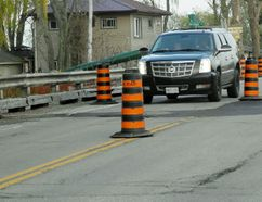 The Long Point Causeway bridge has been reduced to one lane. MONTE SONNENBERG / SIMCOE REFORMER