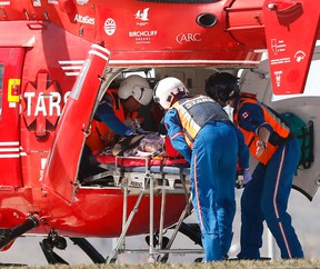STAR's air ambulance at work.