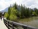 A look across Policeman's Creek towards 630–10th St., which has been offered to the Town of Canmore to purchase for a Creekside park. Maureen McEwan/ Bow Valley Crag & Canyon/ Postmedia Network