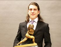 Cole Brydges won the Holland Hurricanes Team MVP award after his stellar first season with the club in Charlottetown, Prince Edward Island. The former Portage Pitbull has been from BC to PEI playing football. (Supplied Photo)