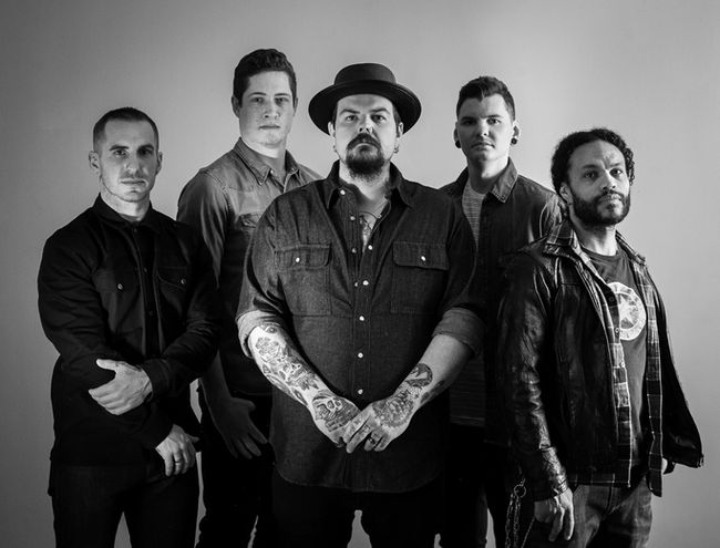The Sarnia-based Cory James Mitchell Band is one of nine semi-finalists in the SiriusXM Top of the Country contest. From left are Kellan Lindsay, Mason Stewart, Mitchell, Jacob Burton, and Griffin, whose last name is a mystery, Mitchell said.  (Handout)
