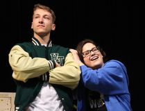 <p>Holy Trinity students Jeremy Latour and Nicole Brachoud rehearse for their school's production of Back to the 80s on Wednesday May 16, 2018 in Cornwall, Ont. </p><p> Alan S. Hale/Cornwall Standard-Freeholder/Postmedia Network