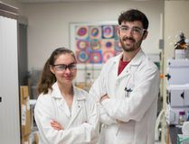 Submitted photo Loyalist College student researchers Robyn Neri and Dallas Bonner, who are graduating from Loyalist this June, have been hired to work on an applied research project with Province Brands of Canada, makers of alcohol-free cannabis beers and spirits.