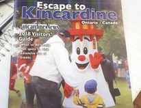 Blinky is hard to miss on the cover of the Kincardine News 2018 Escape to Kincardine Visitors Guide, which is out now.