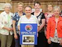 New volunteers and members are needed to join and help strengthen the Auxiliary to Wingham & District Hospital. A 'Meet & Greet' was held at the Lucknow Town Hall Theatre on Wednesday May 9, 2018 to attract potential volunteers. A lunch was provided and a hand made quilt was present as part of just some of the things the organization does to help raise money for community causes. (Ryan Berry/ Kincardine News and Lucknow Sentinel)