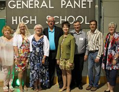 From May 18 until the 20, General Panet alumni gathered in Petawawa for grand reunion festivities and to honour the 60th anniversary of the founding of General Panet. Pictured here are a few members of the Generral Panet High School Reunion Committee. (from left) Bev Payne, Julie Tyrer, Pat Sanford, Keith Croucher, Susan Peacock-Hacking, Dan Wilson, Gary Serviss and Janice Roblin,