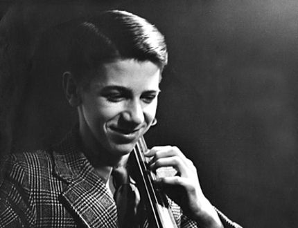 This photo shows Alan Cook, who died May 16 at age 87, as a young cellist. (Submitted Photo)