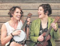 Jamie Birch (left) and Sue Chick Denton of the hummingBird folk duo. They will be performing at artsPlace on Thursday.