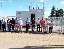 A ribbon cutting ceremony marked the official opening of Fort Air Partnership's new air quality monitoring station in Redwater. Jeff Labine/Postmedia Network