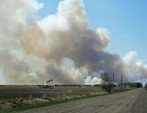 Air quality levels in Strathcona County have returned to low-risk levels since the wildfire that started in northern Strathcona on May 12, and a storage facility fire in Ardrossan on May 15. Jeff Labine/Postmedia Network