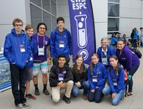 Team Bluewater took part in the Canada Wide Science Fair in Ottawa on May 12-18. The team includes, from left, standing, Griffon Thomas, Larsson Jarvis, chaperone Jason Kim, Connor Maxwell, chaperone Diane Wall and former CWSF competitor and gold medal winner Ambassador Laurissa Christie. Kneeling in front are Zachary Rodgers, former CWSF competitor and platinum medal winner Ambassador Katherine Teeter, Sophia Cottrill and Maisie Cottrill. (Supplied photo)