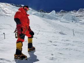 Kingston's Jay Patry at Camp Three on Mount Everest located at an elevation of 7,162 metres. (Supplied photo)