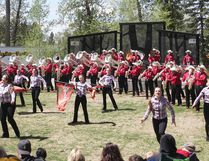 KEVIN RUSHWORTH HIGH RIVER TIMES/POSTMEDIA NETWORK. The Calgary Stampede Showband during Battle of the Bands.