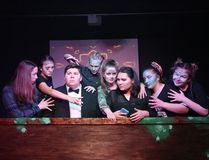 Lasalle Secondary School Black Box Theatre cast members rehearse a scene from The Frogs: A Modern Adaptation, at the high school in Sudbury, Ont. on Wednesday May 23, 2018. John Lappa/Sudbury Star/Postmedia Network