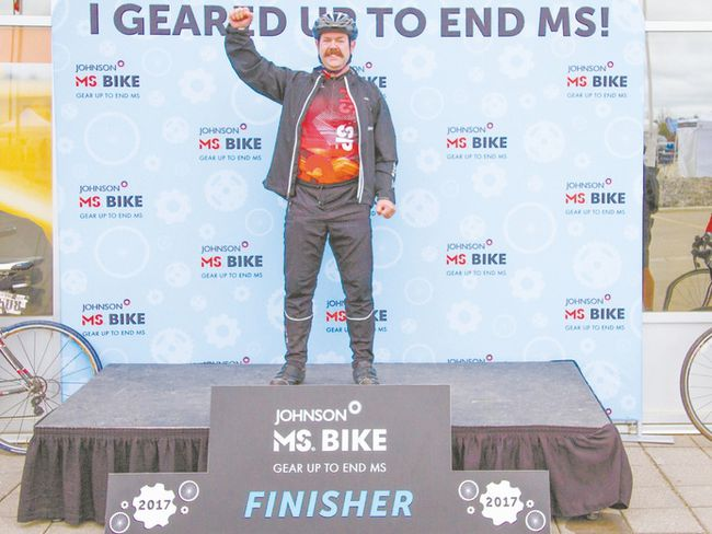 Darryl Turner is one of the top 100 fundraisers for the MS Bike Tour. He has raised more than $48,000 in 10 years.