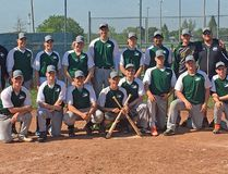 The EOSSAA champion Holy Trinity Falcons. In front, from left, are Nathaniel Van Putten, Zack Coleman, Bailey Geneau, John Van Putten, Anthony Baca, Ryan Stephens, Cole Beckstead and Tommy Teodoro. At back are coach Jeff McAllister, Colton Campbell, Hannah McDonell, Hanna Robertson, Cameron Sabourin, Brandon Dupuis, Ved Patel, Jonah Poirier and coach Kevin McCue. Handout/Cornwall Standard-Freeholder