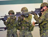 Members of the public are invited to participate as civilian role players during the urban defensive exercise being conducted by 116th Independent Field Battery army reserve soldiers at the Kenora Armoury on Saturday May 26. File photo/Daily Miner and News