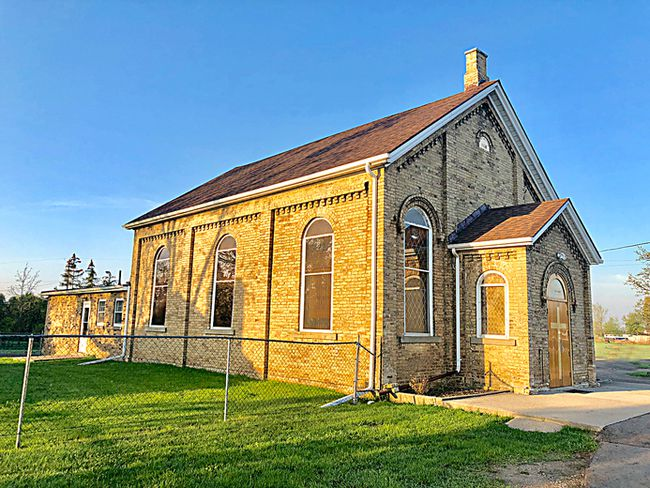 Photo by Kristi LeeThe New Plank Church was built in 1868 on property that was originally donated by Edward Vanderlip. It received its name from the Plank Road that passed by its door. Today the church is known as Langford Community Church.
