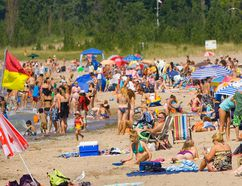 Grand Bend beach, show in this 2012 file photo, has once again earned Blue Flag status. Marinas in Grand Bend and Port Franks, as well as Canatara Park beach in Sarnia, also received the designation this year. (File photo)