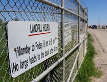 Several cars line up to enter the landfill on Friday, May 25, 2018 in Stratford, Ont. The city is hosting a Treasure Hunt this weekend to help reduce the number of unwanted household items that end up here. (Terry Bridge/Stratford Beacon Herald)