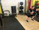 Jan Murphy performs a landmine single-arm zercher squat during his training at 247 Fitness under the tutelage of Visionary Fitness owner Farr Ramsahoye.  (Farr Ramsahoye/Visionary Fitness)
