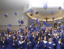 KEVIN RUSHWORTH HIGH RIVER TIMES/POSTMEDIA NETWORK. Notre Dame Collegiate class of 2018 celebrated grad on May 26, starting at St. Francis de Sales Catholic Church and the evening's dinner was at the Highwood Centre.
