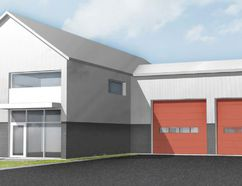 Brant County council has approved architectural drawings and renderings from consultant +VG - The Ventin Group Architects Inc. for new fire halls to be built in Cainsville, Onondaga and Scotland. The three fire halls will have essentially the same design as shown above. (County of Brant)