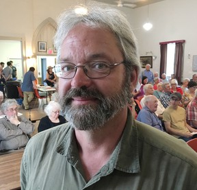 Libertarian candidate Steve Gebhardt says the party's philosophy is a good fit with his riding of Lanark-Frontenac-Kingston on Monday, May 28, 2018.  Elliot Ferguson/The Whig-Standard