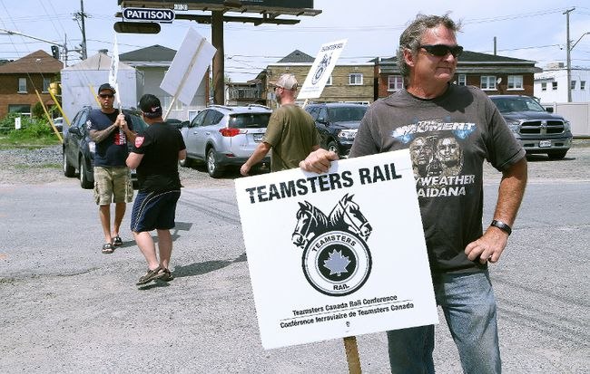 hn Lappa/Sudbury Star/Postmedia Network  Mike Plue, of Division 308 of Teamsters Canada Rail Conference, pickets alongside other members at the CP Sudbury yard in Sudbury on Wednesday. Roughly 30 workers in Sudbury, and about 250 in Northern Ontario were affected by the strike. The train operators voted 94 per cent in favour of strike action to back their contract demands in early April and voted 98 per cent to reject CP's final offer last Friday. However, a few hours after the strike began, Canadian Pacific Railway Ltd. reached a tentative pact with the Teamsters. Operations will resume Thursday at 6 a.m. local time across Canada, the Teamsters Canada Rail Conference said in an emailed statement. The agreement covers about 3,000 conductors and locomotive engineers, the union said.