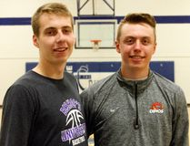 Connor Kelly (left) will be going to Bishop's University and Jackson Bayles (right) is attending Calgary University. (Jonathon Brodie/The Recorder and Times)
