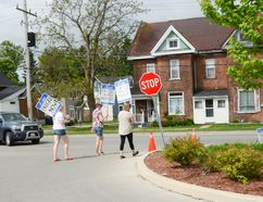 The Ontario Public Service Employees' Union strike at the Owen Sound Medical Centre entered its ninth day and there was no end in sight Friday. (Scott Dunn/The Sun Times)