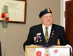 Dale Bast was sworn in as president of Royal Canadian Legion Branch 8 on Sunday, June 3,2018 in Stratford, Ont. Terry Bridge/Stratford Beacon Herald/Postmedia Network