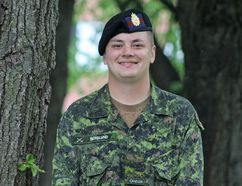 Emerson Berglund from Chatham is working with the Ceremonial Guard in Ottawa for the summer. Handout/Postmedia Network