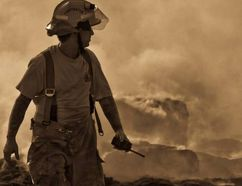 Grant Munro in the line of duty serving his local communities firefighting.