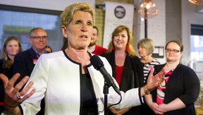 Ontario Liberal leader Kathleen Wynne was in London, Ont. on Tuesday June 5, 2018 to support the local liberal candidates. (Mike Hensen/Postmedia Network)