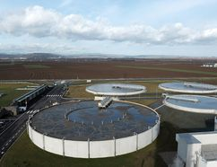 Sedimentation tanks are shown at a waste-water treatment plant in France where anaerobic digestion is used to produce methane. A project is currently underway to attempt to bring a digester to Sarnia-Lambton. (AFP PHOTO / FREDERICK FLORINFREDERICK FLORIN/AFP/Getty Images)
