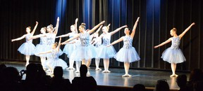 Photo by KEVIN McSHEFFREY/THE STANDARD The recreational two and three ballet group danced to 'Go The Distance' at the Studio Dance Arts Live 2018 year-end recital in the Lester B. Pearson Civic Centre theatre on Saturday evening.