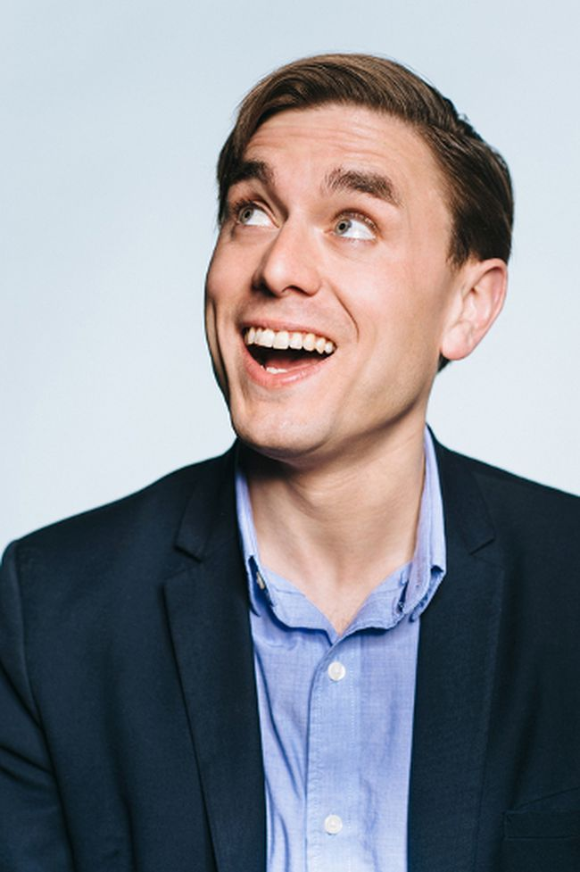 British comedian James Mullinger was one of the hardest working stand ups in the UK as well as the Comedy Editor for GQ Magazine. (SEAN MCGRATH)