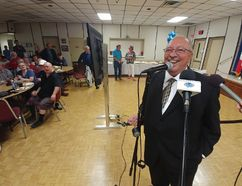 Re-elected Sarnia-Lambton MPP Bob Bailey speaks to supporters Thursday. (PAUL MORDEN, Sarnia Observer)